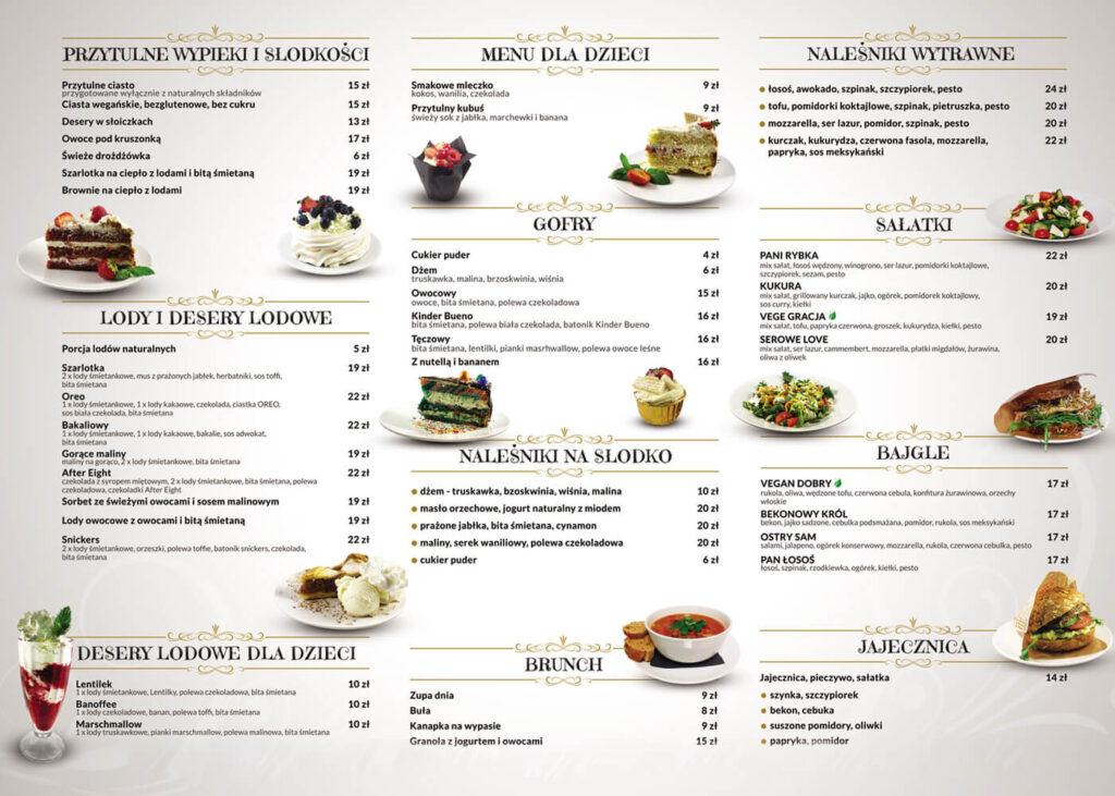 Menu przytulna Cafe Vivo